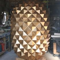 Fabrication objets géants Ananas 3m